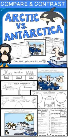 Are you teaching your students about the Arctic and Antarctica? What a wonderful way to teach the skill of comparing and contrasting! Your students will use this product to record the facts and information that they learn about the Arctic and Antarctica.