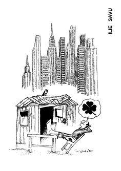 Caricatura de ILIE SAVU, publicata in almanahul PERPETUUM COMIC '97 editat de URZICA, revista de satira si umor din Romania
