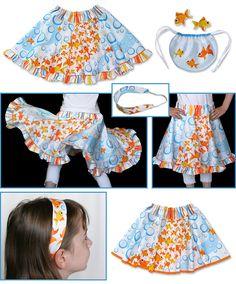 Swim Fishy Swim - Faux Redondo Girls' Skirt