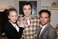 Celebrities visit Broadway - jim-parsons-and-kaley-cuoco Photo