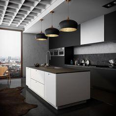 Cucina nera di design 11