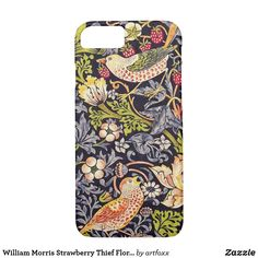 William Morris Strawberry Thief Floral Art Nouveau Case-Mate iPhone Case William Morris, Iphone 6 Plus Case, Iphone Cases, Art Nouveau, Edward Burne Jones, Arts And Crafts Movement, Pattern Art, Pattern Design, Textile Design
