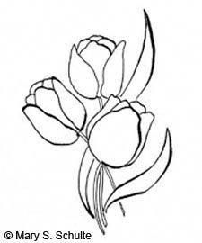 flowers drawing activities embroidery tulip elderly templates flower seniors cool simple template painting patterns trendy drawings crafts fonts debt projects