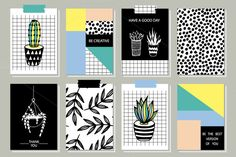22 Templates of Creative Cards. 80s - Cards