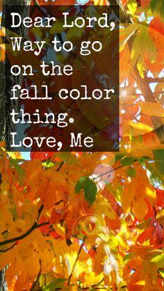 A Fall Prayer