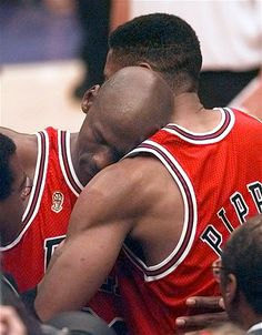 Image: Michael Jordan and Scottie Pippen, Chicago Bulls, NBA Finals, Salt Lake City, 1997 (© Susan Ragan/AP)
