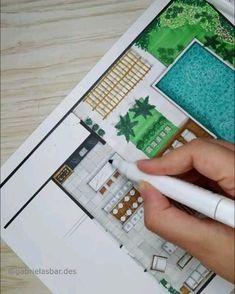Architecture Blueprints, Interior Architecture Drawing, Architecture Drawing Sketchbooks, Interior Design Renderings, Architecture Concept Drawings, Drawing Interior, Interior Sketch, Architect Drawing, Marker