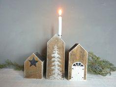 Jahreszeitentisch - Winterhäuschen (3 Stck.) - ein Designerstück von Woodlouse bei DaWanda
