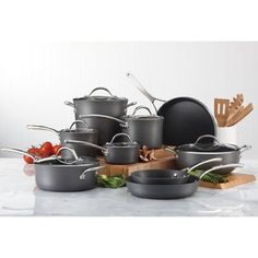 Amazon.com: 15-Piece Hard-Anodized Aluminum ~ Cookware Set: Kitchen & Dining