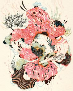 illustration/print by yellena james