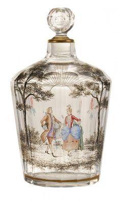 Rare Daum Nancy Cut And Engraved Perfume Bottle
