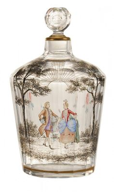 Rare Daum Nancy Cut And Engraved Perfume Bottle