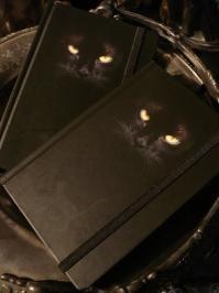 Little Black Cat Book Blank Journal