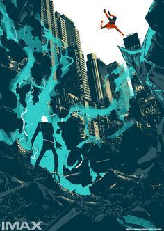Unused designs for The Amazing Spider-Man 2's IMAX poster by Matt Taylor