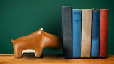 Stuffed Hippo Bookend / Toy by Zuny | Furniture & Decor | AHAlife.com