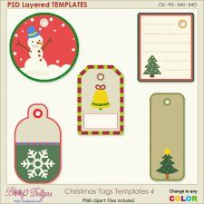 Christmas Tag Layered Templates 4 #CUdigitals cudigitals.com cu commercial digital scrap #digiscrap scrapbook graphics