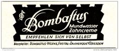 Original-Werbung/ Anzeige 1941- BOMBASTUS MUNDWASSER   - ca. 65 x 25 mm