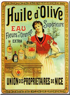 Vintage French poster for the kitchen.