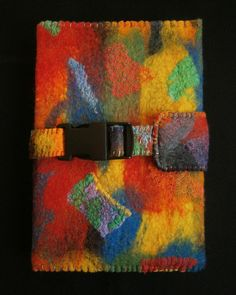 Items op Etsy die op Bright and Colourful Handmade Felt Diary Cover lijken