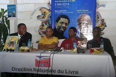 Dany Laferriere et Lilian Thuram en #Haiti au #DNL pour la vente signature de leur livre pic.twitter.com/9w7iXK1sVK