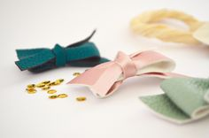 Faux Leather Bow perfect for school and every day use