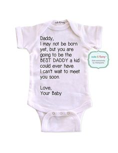 cute & funny – Daddy, I may not be born yet, but you are going to be the BEST DA… cute & funny – Daddy, I may not be born yet, but you are going to be the BEST DADDY – cute & funny surprise baby birth pregnancy announcement – White Newborn Size Mos). Pregnancy Announcement To Parents, Birth Announcement Girl, Baby Announcements, Pregnancy Photos, Pregnancy Tips, Vogue Kids, Good Daddy, Daddy To Be, Surprise Baby