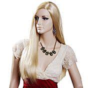 Capless Long Golden Blonde Straight Top Grade... – DKK kr. 242