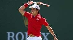 Kei Nishikori is yet to drop a set on his route to the quarters