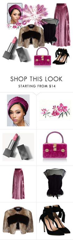 """""""Sin título #164"""" by amaiba ❤ liked on Polyvore featuring Burberry, Dolce&Gabbana, LUISA BECCARIA, Louis Vuitton, RED Valentino and Gianvito Rossi"""