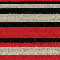 """Sonoma Stripe Rug - 20x40 - Black/Red by Anna's Linens. $13.99. Colorful Rug will boost the look of any room.  Berber Durable Easy care Skid Resistant 100% Poly  Product Measurements:  18""""W x 30""""L 20""""W x 40""""L Runner - 20""""W x 60""""L  Care Instructions:  Machine Washable Gentle Cycle"""
