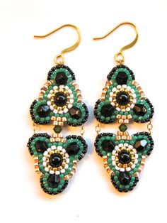 Kelly Green Chandelier Earrings Green Chandelier by ShegoAndHen