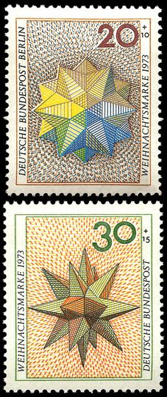 German postage stamps from 1973