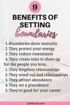 Setting Boundaries Benefits by a Life Coach | Blush Life Coaching