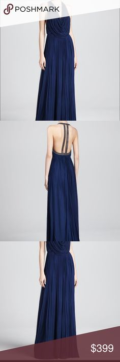 Catherine Deane Gown Catherine Deane Oran Pleated Navy Gown Catherine Deane Dresses Maxi