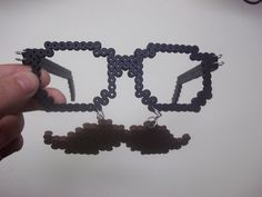 Perler Bead Glasses and Mustache Combo by ~Werbenjagermanjensen on deviantART
