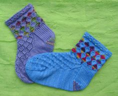 Lucy Neatby--Harlequin Socks (Cuff Down)