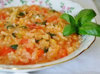 Cantinho Vegetariano: Risoto de Tomates com Manjericão (vegana)