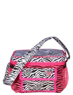 Pink Zebra Cooler | Girls Backpacks & School Supplies Accessories | Shop Justice