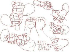 "Anatomy Reference deviantart: A great hand study! polskiskiski: Hands holding weapons - deviantart: "" A great hand study! Hand Drawing Reference, Anatomy Reference, Art Reference Poses, Sword Reference, Anatomy Drawing, Manga Drawing, Figure Drawing, Drawing Poses, Drawing Hands"