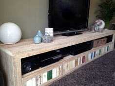 Steigerhouten tv-meubel met sloophout | maxi met sloophout | tv-meubel met laden | de Steigeraar