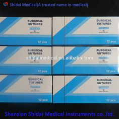 Cheap Disposable Surgical Suture 8/0 Silk Suture with Needle 75cm