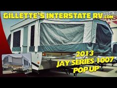 JAY SERIES 1007 POP UP FOLD DOWN CAMPER BY JAYCO RV --- Gillettes Interstate RV Jayco Rv, Rv Videos, Rv Camping Tips, Rv Life, Campers, Pop Up, Youtube, Camper Trailers, Popup