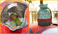 Bossa per portar el ganxet, ideal per a una ganxeta!  Handbag to carry your crochet staff!  I fil good!  DIY
