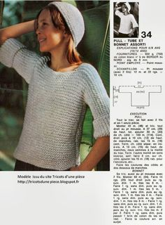 comment tricoter un pull tube - Anne-Laure Arnaud - Alles Knitting Patterns Free, Knit Patterns, Free Knitting, Beard Lover, Drops Design, Knit Crochet, Men Sweater, Clothes For Women, Sewing