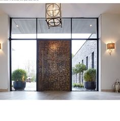 The Raw E80 door in Bronze, created as a bespoke option. Truly magnificent! #doorcouture