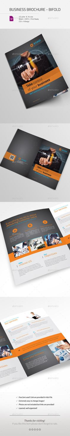 Business Corporate Brochure Bifold — InDesign INDD #financial #bi fold • Available here → https://graphicriver.net/item/business-corporate-brochure-bifold/11002542?ref=pxcr