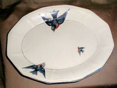 more vintage bluebird china