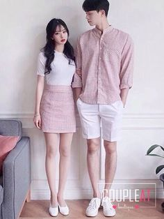 Matching Couple Outfits, Matching Couples, Pop Punk Fashion, Fashion Outfits, Rock Fashion, Lolita Fashion, Fashion Boots, Couple Ulzzang, Mode Ulzzang