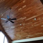 Custom tongue and groove wood paneling for walls and ceilings, tailored to the look & style you want. Pine paneling, cedar & many hardwood species. Tongue And Groove Panelling, Ship Lap Walls, Wood Paneling, Ceiling Fan, Hardwood Floors, Cherry, Ideas, Home Decor, Products