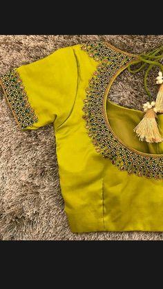 Cutwork Blouse Designs, Kids Blouse Designs, Simple Blouse Designs, Stylish Blouse Design, Blouse Neck Designs, Golden Blouse Designs, Pattu Saree Blouse Designs, Henna Designs, Traditional Blouse Designs